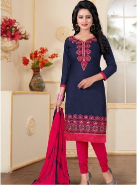 India Emporium Cotton Magenta Color Suits