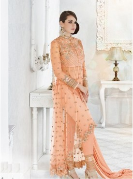 India Emporium Georgette Peach Color Suits