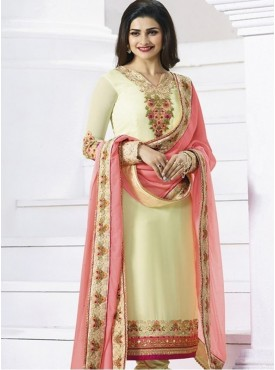 India Emporium Georgette Cream Color Suits