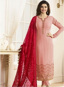 India Emporium Georgette Pink Color Suits