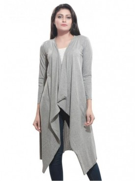 Bfly Women's Viscose Long Shrug (Grey)