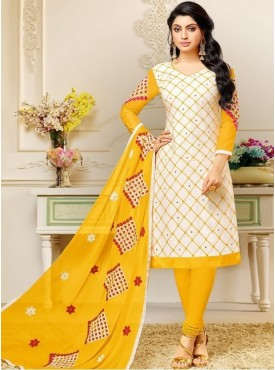 A&B Fashion Cotton Embroidered Designer Salwar Suits