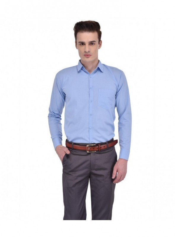 Ansh Fashion Wear Men Grey Formal Wear Shirt
