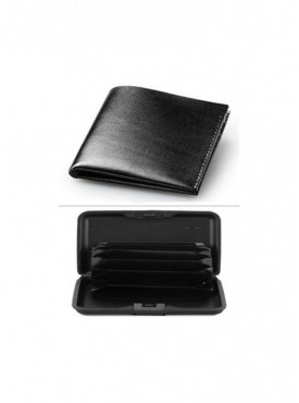 Jack Klein Combo of Black Color Leather Wallet And Aluma Wallet