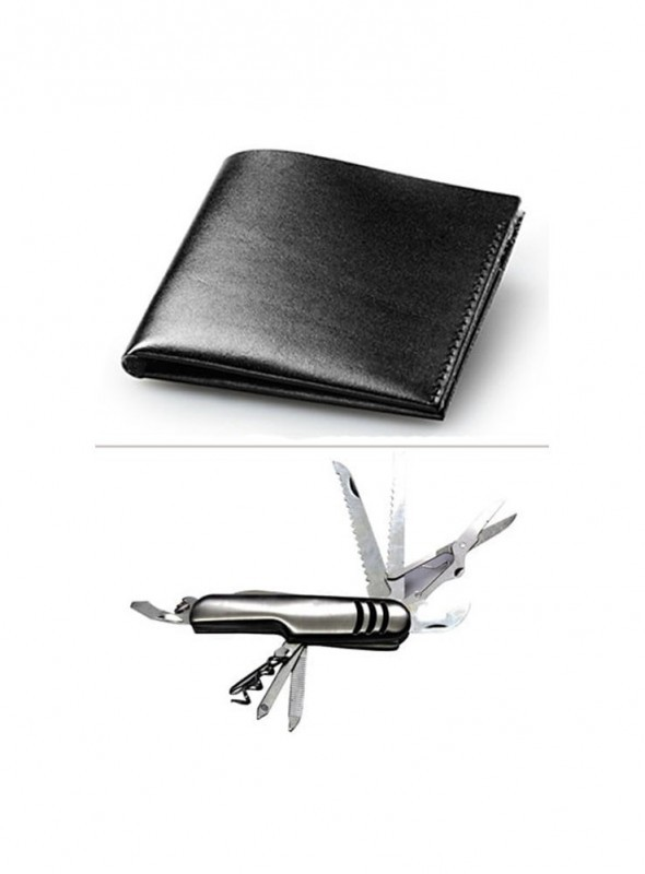 Jack Klein Combo of Leather Wallet And Swiss Knife