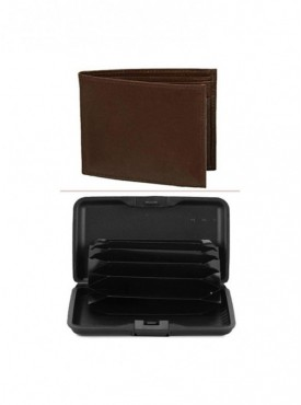 Jack Klein Combo of Leather Wallet And Aluma Wallet