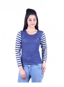 MG Wears Women Blue Striper Top