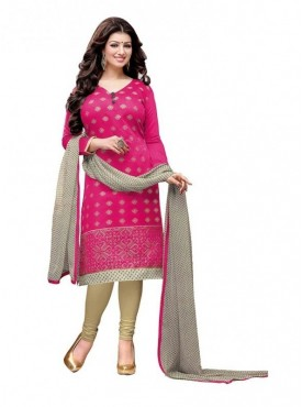 Dress Material Chanderi Rani Color Suit