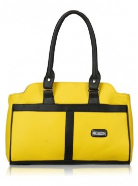 Fantosy Women Rani Yellow And Black Handbag