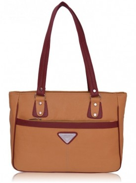 Fantosy Lavish Beige And Maroon Women Handbag