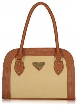 Fantosy Women D Model Beige And Tan Handbag