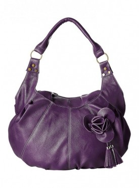 Fantosy Women Flower Purple Handbag