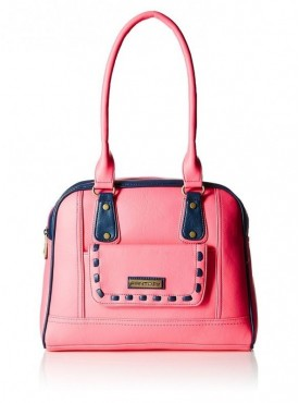 Fantosy Women Rashmi Pink And Blue Handbag