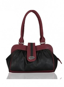 Fantosy Spark Black And Maroon Women Handbag