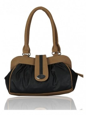 Fantosy Spark Black And Beige Women Handbag