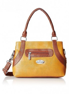 Fantosy Tan And Brown Women Satchel Bag
