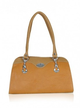 Fantosy Tan And Beige Women'S Handbag