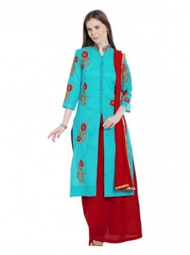 Viva N Diva Sky Blue Colored Cambric Cotton Salwar Suit