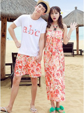 Hot Selling Letters Flowers Mens Suits with Beach Dress