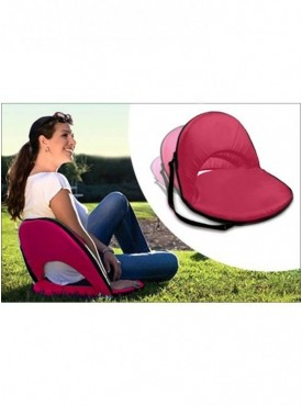 Portable Reclining Yoga Chair With 6 Adjustable Positions And Shoulder Strap-Pink