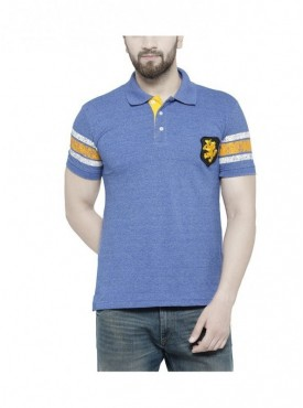 TSX Men's Polo Neck Printed T-shirt