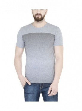 TSX Grey Color Round Neck Half Sleeve Men's T-Shirt
