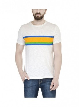 TSX White Color Round Neck Half Sleeve Men's T-Shirt