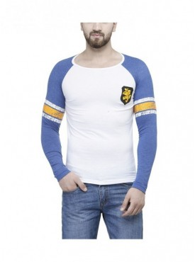 TSX White Color Round Neck Full Sleeve Men's T-Shirt