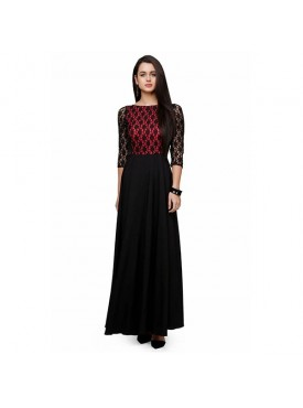 Oro Lifestyle Designer Maroon Gown (Long Dress)