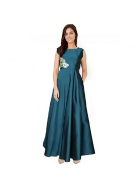 Oro Lifestyle Designer Sea Green Gown