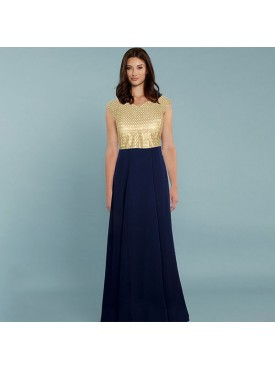 Oro Lifestyle Exclusive Designer Blue Gown