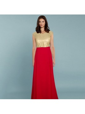 Oro Lifestyle Exclusive Designer Red Gown
