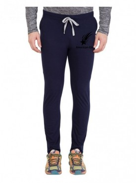 American-Elm Navy Star Printed Sports Wear Trackpant for Men