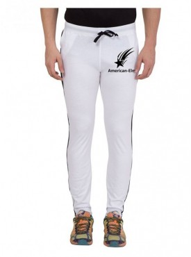 American-Elm Men Cotton With Star Printed Trackpant