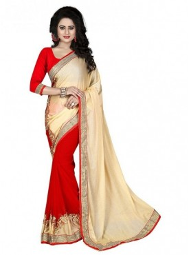 YNF Fancy Dyed With Embroidered Saree With Blouse