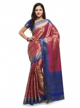 YNF Designer Heavy Cotton Silk Jacquard Saree With Blouse