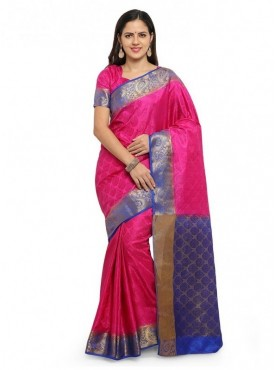 YNF Designer Heavy Silk Jacquard Saree With Blouse