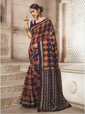 Sareemall Bhagalpuri Silk Women Purple Saree