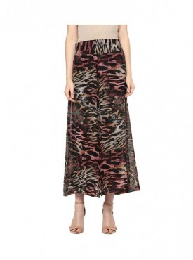 American-Elm Women Multi Coloured Animal Print Palazzo