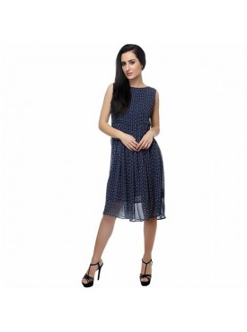 SGF Women Georgette Blue Color Dress