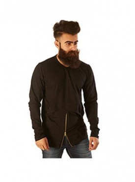 Rellin Men Front Centre Small Zip With Handkerchief T-Shirt
