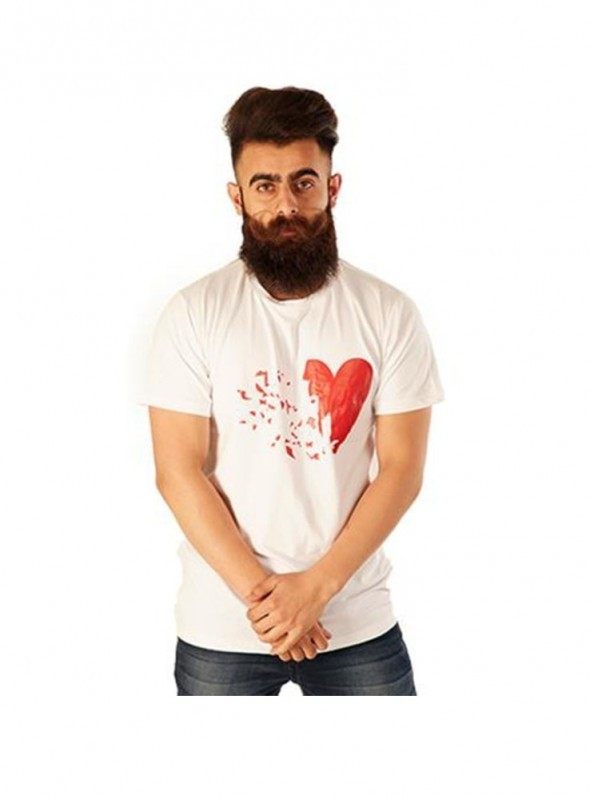 Rellin Men Break Heart Printed T-Shirt