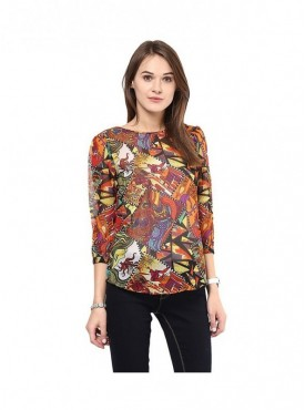 American-Elm Sleeves Top for Women
