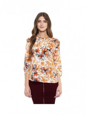 American-Elm Multicoloured Floral Tops for Womens