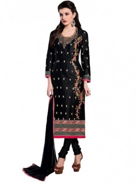 Viva N Diva Black Colored Glace Cotton Suit