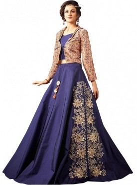 Viva N Diva Blue Silk  Suit