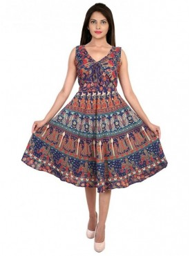 Women's Cotton Knee Lenth Dress