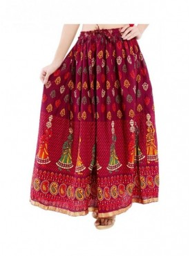 Decot Women's cotton ethnic long skirt
