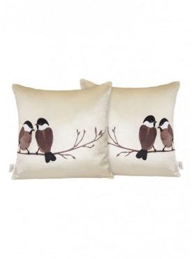 Zikrak Set of 2 Poly Dupion Cushion Covers