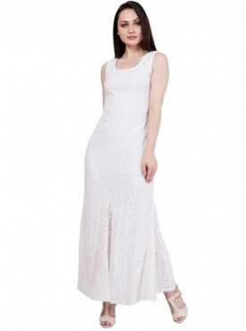 Alvenda Women Sleeveless Flare Maxi Dress